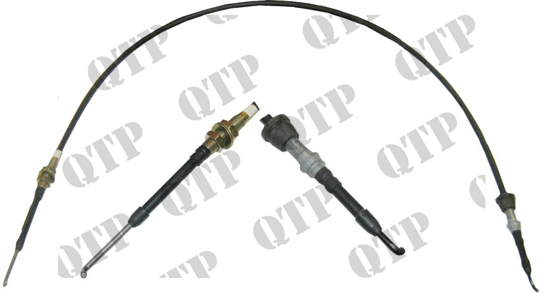 Part Number: 52378 Description: CASE Industrial Hydraulic Spool Valve Cable Case MX Curved.